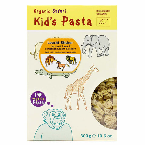 Organic Kids Pasta in Zoo Animal Shapes 10.6 oz