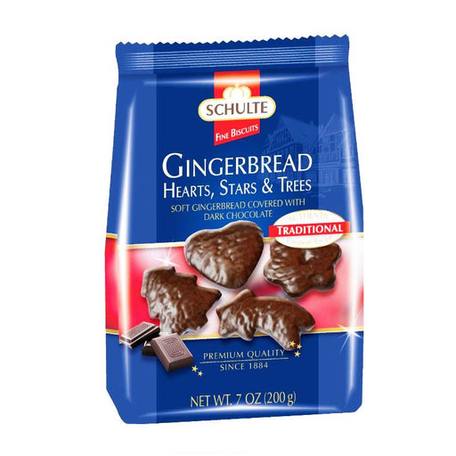 Schulte Premium Gingerbread Hearts, Stars & Trees, 7 oz