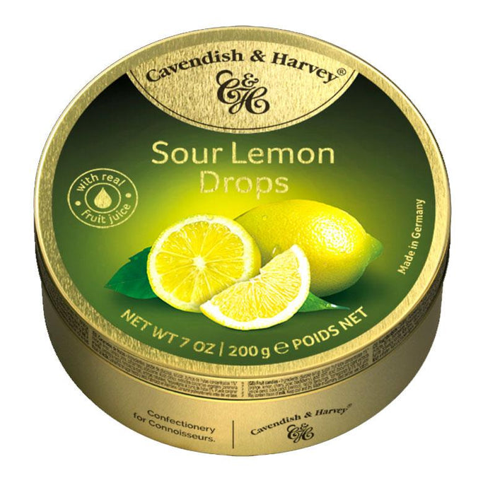 Cavendish & Harvey Sour Lemon Candy Drops, 5.3 oz