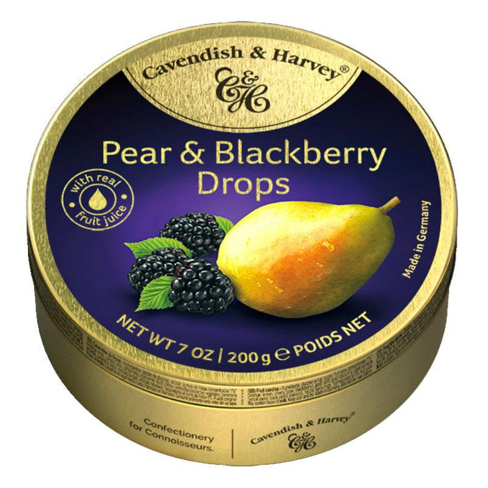 Cavendish & Harvey Pear and Blackberry Candy Drops, 5.3 oz