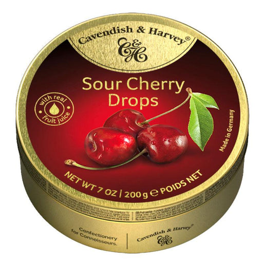 Cavendish & Harvey Sour Cherry Candy Drops, 5.3 oz
