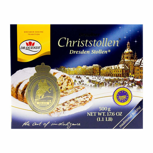 Traditional German Christmas Stollen by Dr. Quendt 17.6 oz