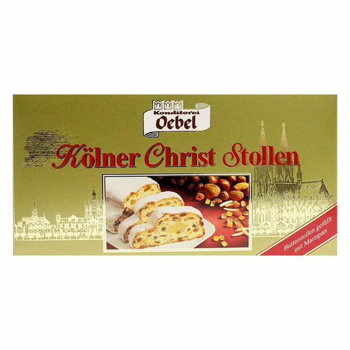 Oebel Large Traditional German Christmas Stollen, 26.4 oz (750 g)