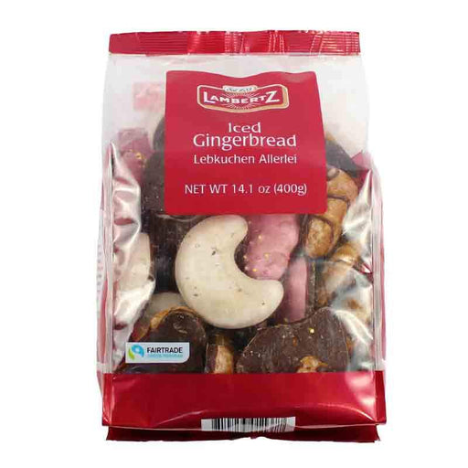 Lambertz Iced Assorted Gingerbread Cookies, 14.1 oz. (400g)