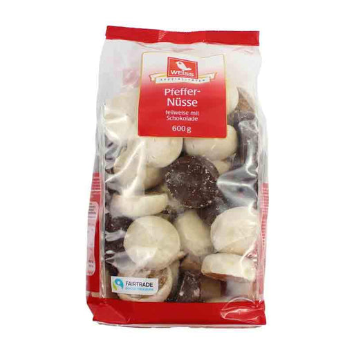 Weiss Assorted Chocolate Pfeffernusse Gingerbread Cookies, 21.2 oz. (600g)