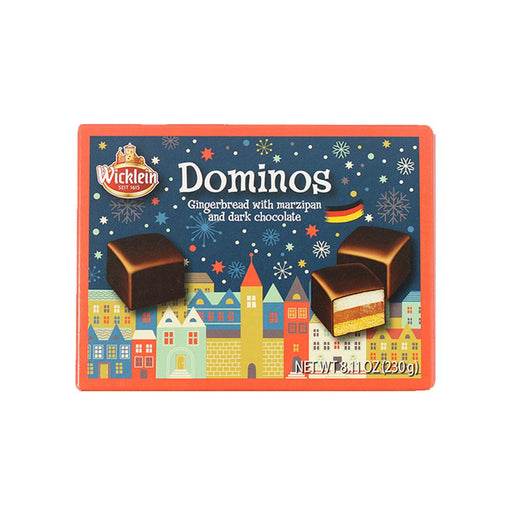 Wicklein Dominos Gingerbread with Marzipan and Dark Chocolate, 8.1 oz (230 g)