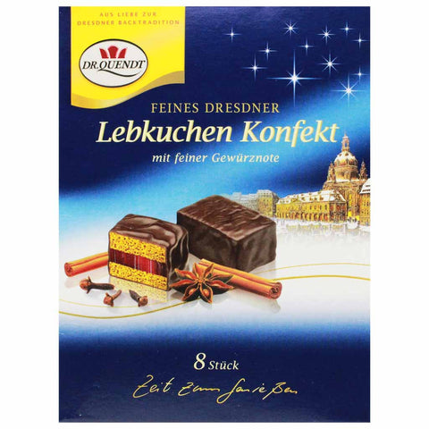 Gingerbread Chocolates Lebkuchen with Cherry Jelly by Dr. Quendt 4.6oz