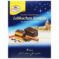 Dr. Quendt Chocolate Lebkuchen Gingerbread with Cherry Jelly, 4.6 oz (130 g)