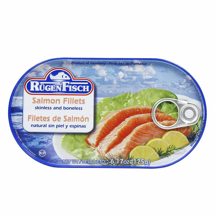 Rugen Fisch Boneless Skinless Salmon Fillets, 6 Oz (175 G