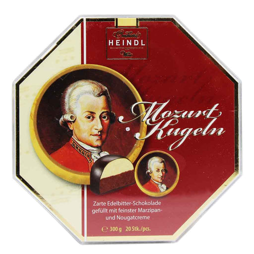 Mozart 20 Pcs Chocolate Marzipan by Heindl, 10.5 oz