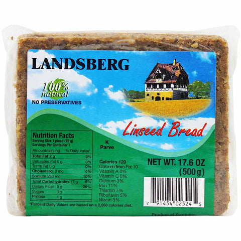 Landsberg Linseed Bread 17.6 oz. (500g)