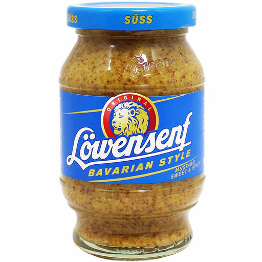 Lowensenf Bavarian Sweet and Spicy Mustard, 10 oz (250 g)