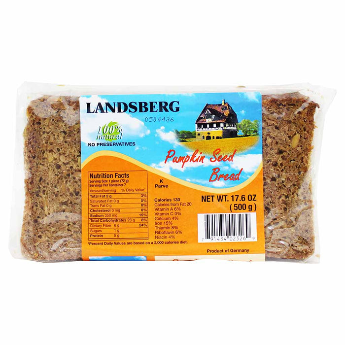 German Pumpkin Seed Bread by Landsberg, 17.6 oz (500 g)