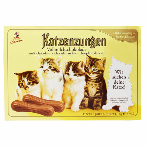 Sarotti Katzenzungen Milk Chocolate Cat Tongues 3.5 oz. (100g)