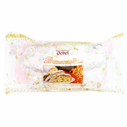 Oebel Butter Stollen, 17.6 oz (500 g)