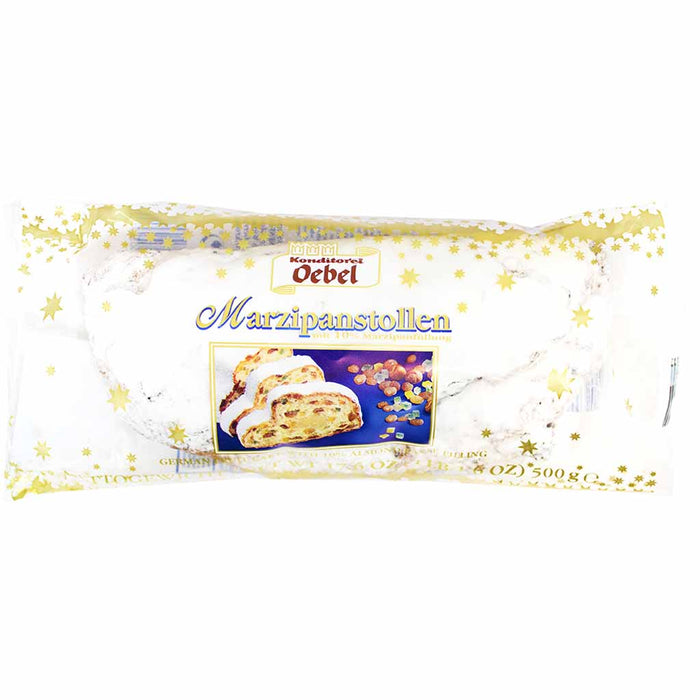 Oebel German Marzipan Stollen, 17.6 oz (500 g)