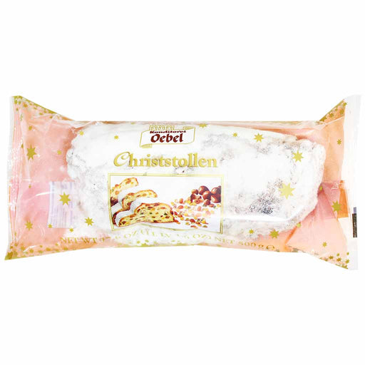 Oebel Traditional Christmas Stollen, 17.6 oz (500 g)