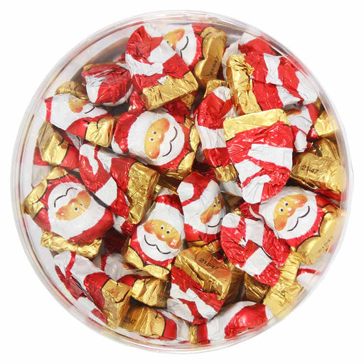 Riegelein Milk Chocolate Mini Santas, Drum, 14.1 oz (400 g)