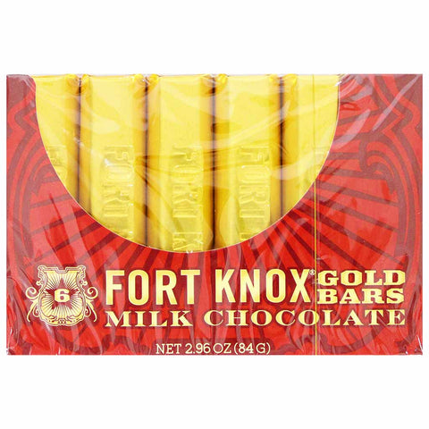 Fort Knox Milk Chocolate Gold Bars 2.9 oz. (84g)
