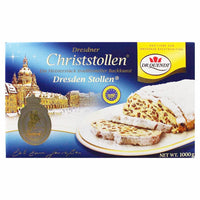 Dr. Quendt Dresdner Christmas Stollen, 2.2 lbs (1 kg)