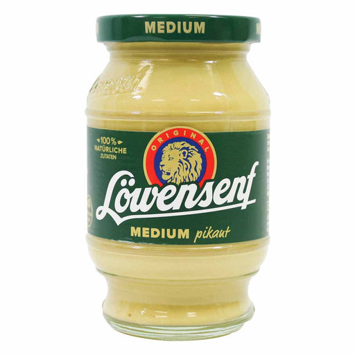 Lowensenf Medium Hot Mustard, 8.7 fl oz (250 ml)