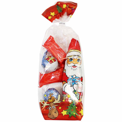 Wawi Chocolate Santa and Ornaments, 4.4 oz (125 g)