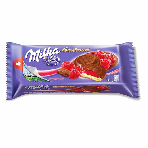 Milka Cookies, Choco Dessert Raspberry Jelly, 5.2 oz. (147 g)