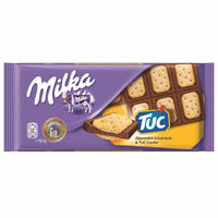 Milka Chocolate with Tuc Biscuits, 3 oz (87 g)