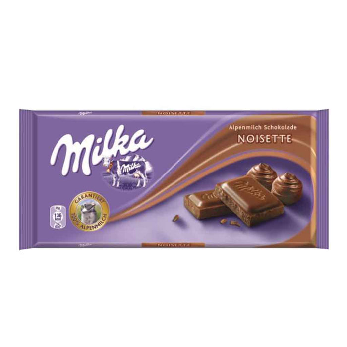 Milka Hazelnut Noisette Chocolate, 3.5 oz (100 g)