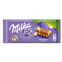 Milka Milk Chocolate with Hazelnuts, 3.5 oz (100 g)