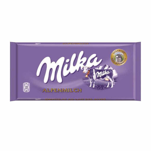Milka Milk Chocolate, Alpenmilch, 3.5 oz.