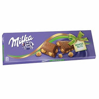 Milka XXL Milk Chocolate with Whole Hazelnuts, 8.8 oz (250 g)