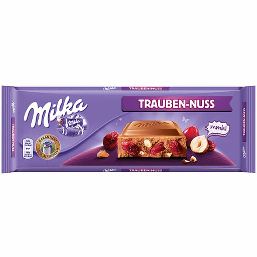 Milka XXL Milk Chocolate with Raisins and Nuts, 9.5 oz (270 g)