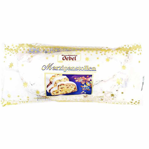 Oebel Large Luxury Marzipan Stollen, 26.4 oz (750 g)