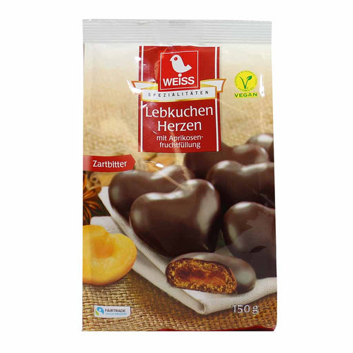 Weiss Gingerbread Apricot-Filled Hearts, 5.2 oz (150 g)