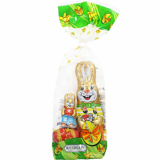 Riegelein German Easter Chocolates with Bunnies and Eggs, 5.2 oz (150 g)