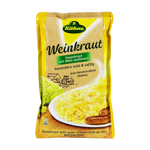 Kuhne German Sauerkraut with White Wine, 18.3 oz (520 g)