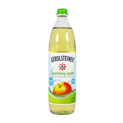 Gerolsteiner Sparkling Apple Mineral Water, 25.3 fl oz (750 ml)