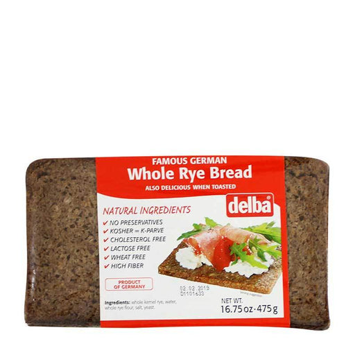 Delba - Whole Rye Bread, Germany, 16.75 oz. (475g)