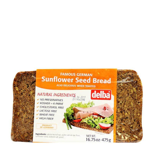 Delba Ð Sunflower Seed Bread, Germany, 16.75 oz. (475 g)