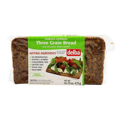 Delba – Three Grain Bread, Germany, 16.75 oz. (475 g)