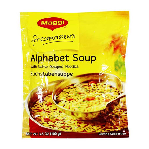 Maggi Ð Alphabet Soup, (Buchstabensuppe) Packet, Germany, 3.5 oz. (100 g)