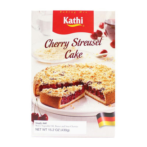 Kathi – Cherry Streusel Cake Mix , Germany, 15.2 oz (430 g)