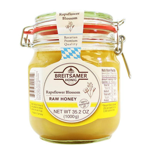 Breitsamer – Rapsflower Blossom Honey (Raw Honey), Germany, 35.2. oz. (1000 g)