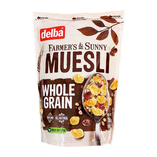 Delba Ð Muesli Whole Grain, (FamerÕs and Sunny), 26.5 oz. (750 g)