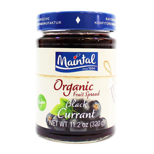 Maintal – Organic Black Currant Fruit Spread, Germany, 11.2 oz (320 g)