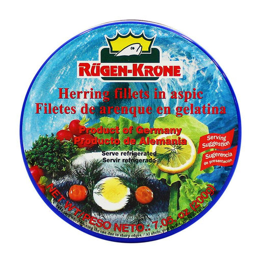 Rugen Fisch– Herring Fillets in Aspic, Germany, 7.05 oz. (200 g)