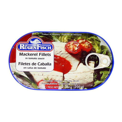 Rugen Fisch Ð Mackerel Fillets in Tomato Sauce, Germany, 7.05 oz. (200 g)