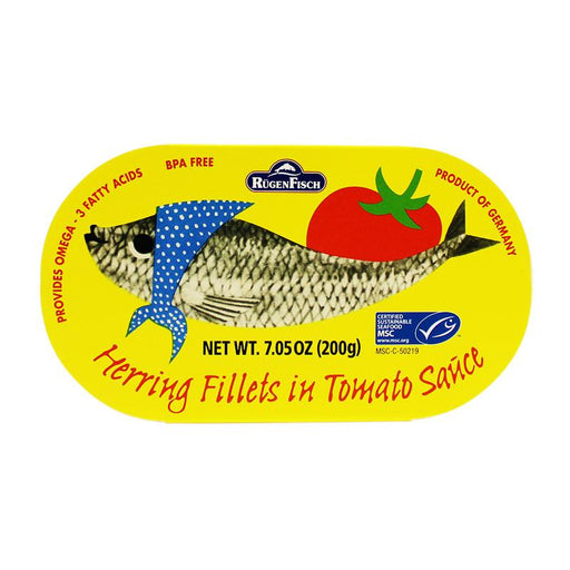 Rugen Fisch – Herring Fillets in Tomato Sauce, Retro, 7.05 oz. (200 g)