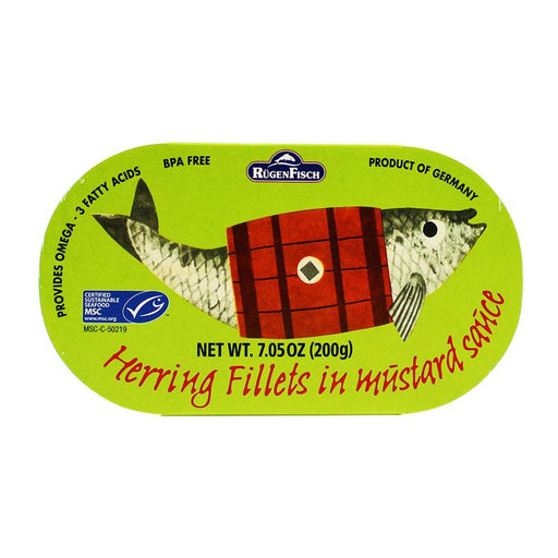 Rugen Fisch – Herring Fillets in Mustard Sauce, Retro, 7.05 oz. (200 g)